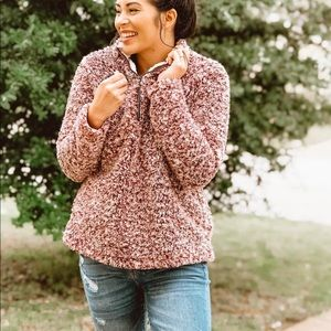 Sweaters - Fleece teddy fuzzy Sherpa pullover sweater